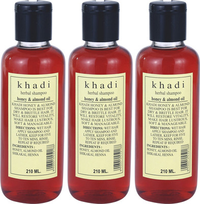 Khadi Herbal Honey and Almond Oil Shampoo