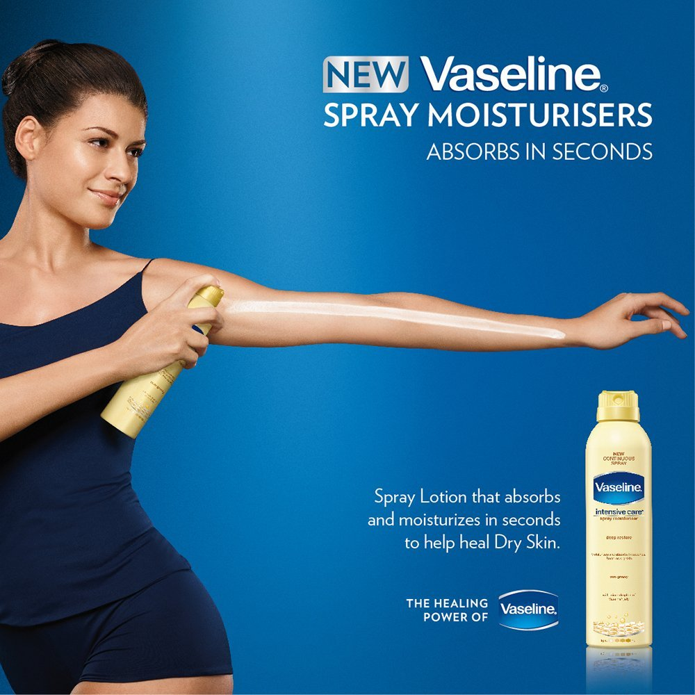 Vaseline Intensive Care Deep Restore Spray Moisturizer