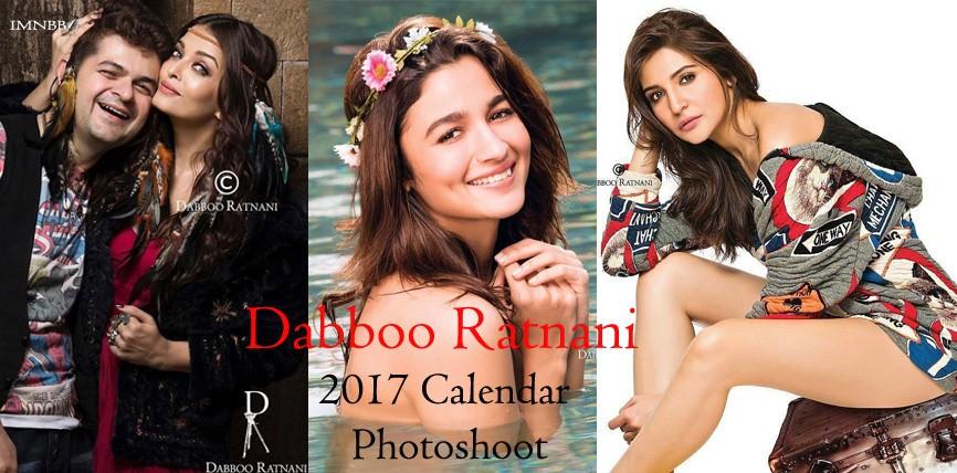 Dabboo Ratnani 2017 Calendar Photoshoot