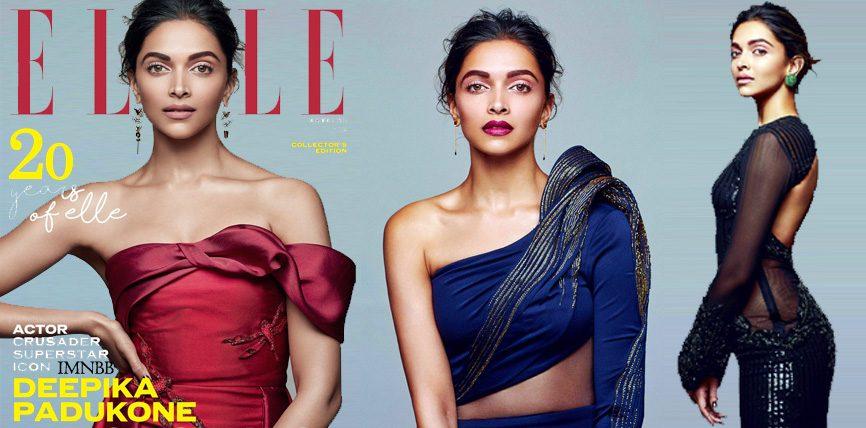 Deepika Padukone Elle Magazine 2016 December Photoshoot