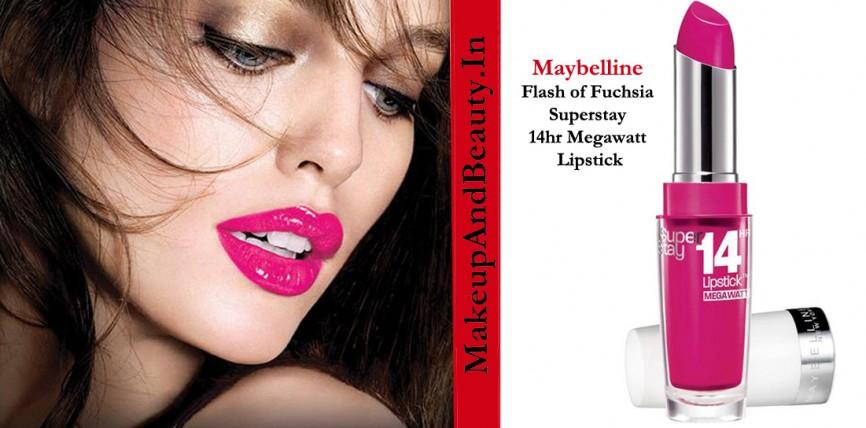 Maybelline Flash of Fuchsia Superstay 14hr Megawatt Lipstick Review