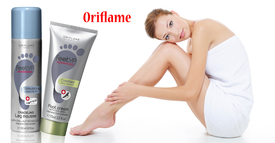 Oriflame Feet Up Advanced Stimulating Cooling Relief Crackling Leg Mousse