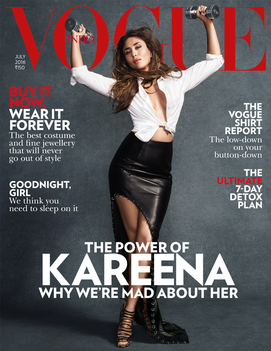 Kareena Kapoor Cover Girl of Vogue India Magazine July 2016