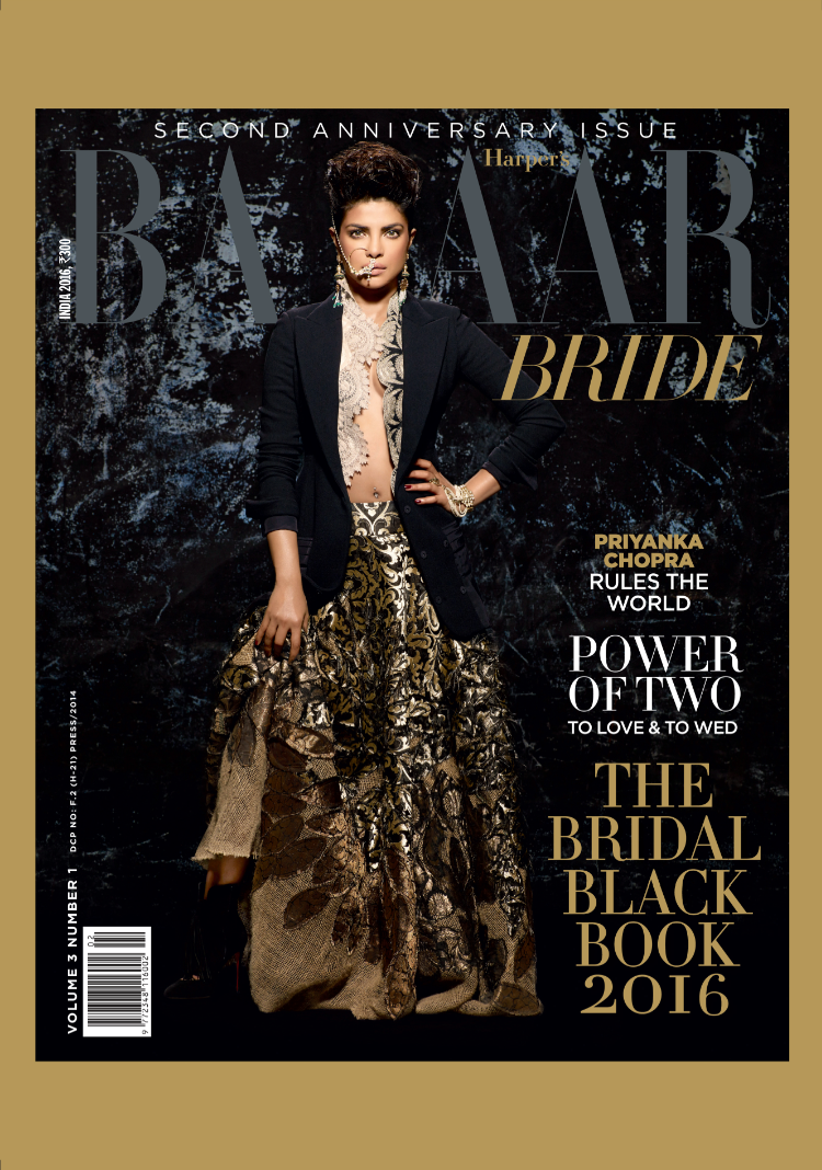 Priyanka Chopra Turns Cover Girl For Harper's Bazaar Bride India