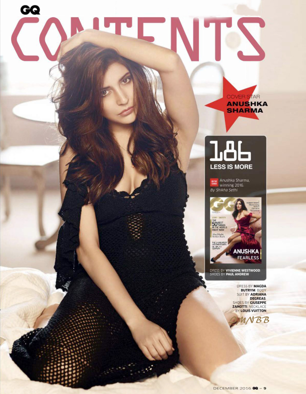 Anushka Sharma GQ India 2016 December Magazine Photoshoot