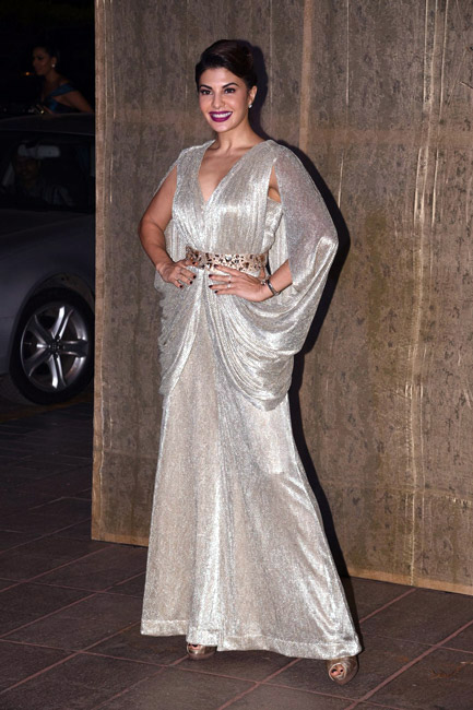 Celebrities Wearing Metallics This Party Season - Jacqueline Fernandez