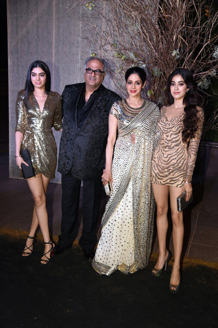 Celebrities Wearing Metallics This Party Season - Jhanvi and Khushi Kapoor