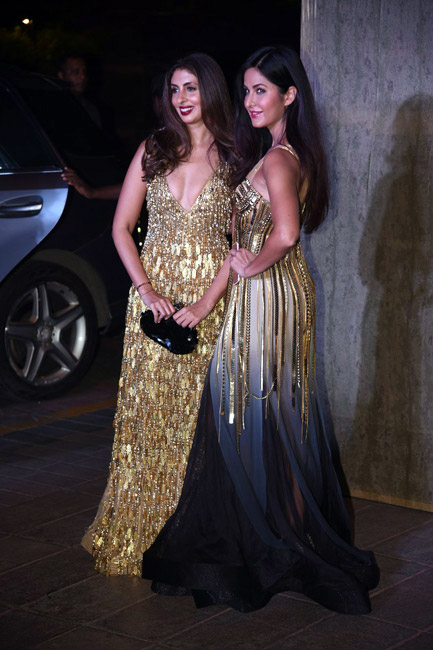Celebrities Wearing Metallics This Party Season - Shweta Bachchan Nanda and Katrina Kaif