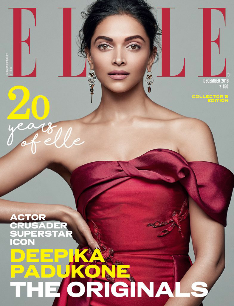 Deepika Padukone Elle 2016 December Photoshoot
