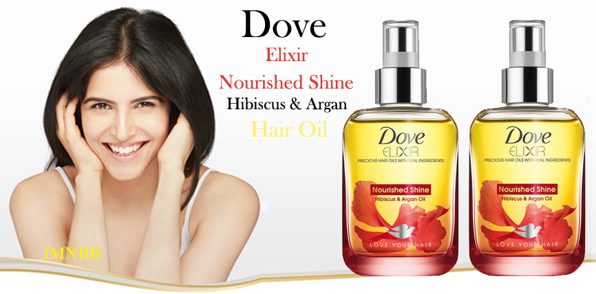 Dove Elixir Nourished Shine Hibiscus and Argan Hair Oil Review