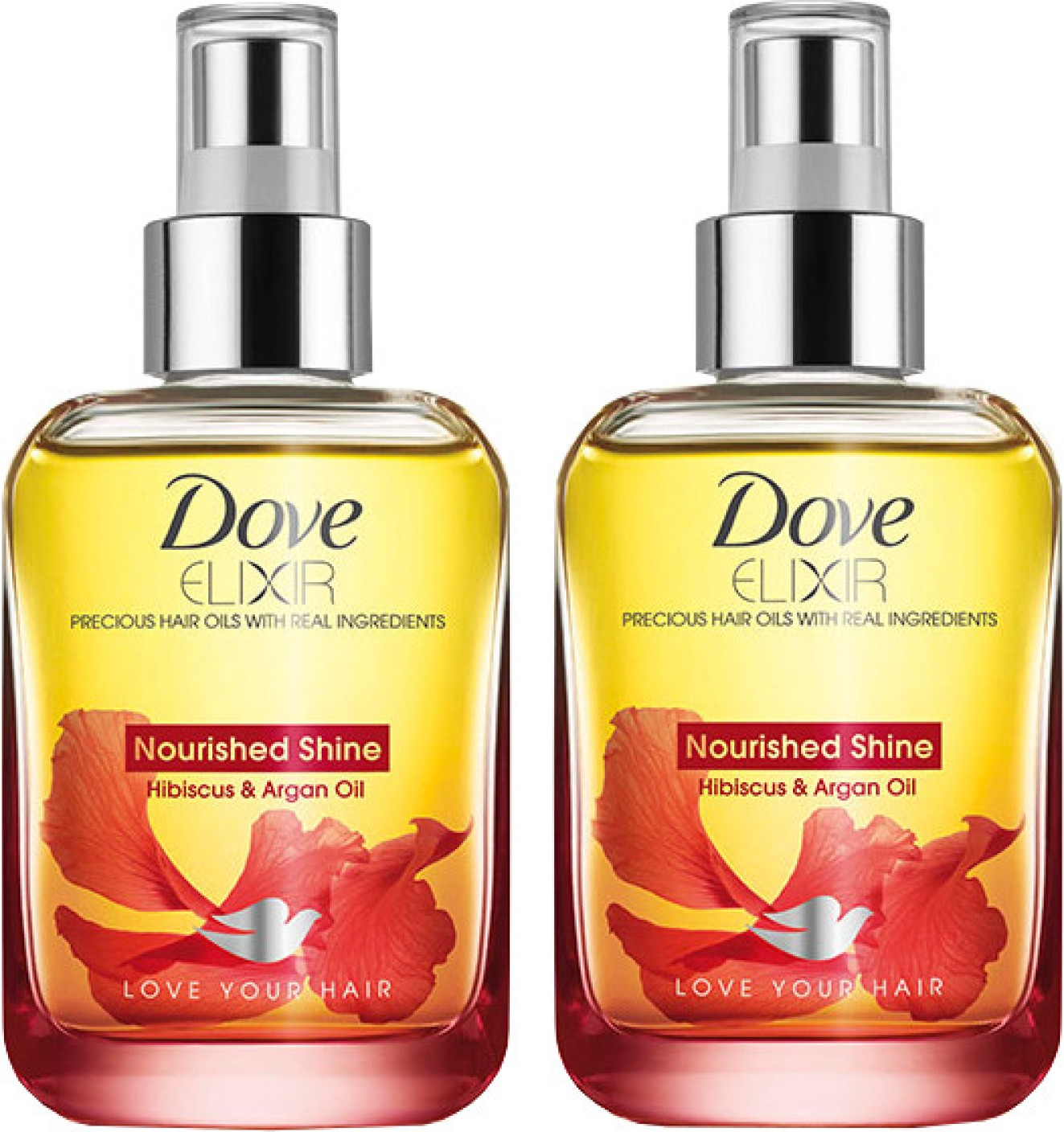 Dove Elixir Nourished Shine Hibiscus and Argan Hair Oil
