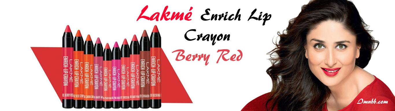 Lakme Enrich Lip Crayon Berry Red Review