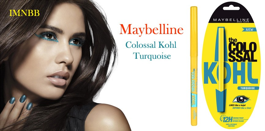 Maybelline Colossal Kohl Turquoise Review