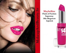 Maybelline Flash of Fuchsia Superstay 14hr Megawatt Lipstick Review