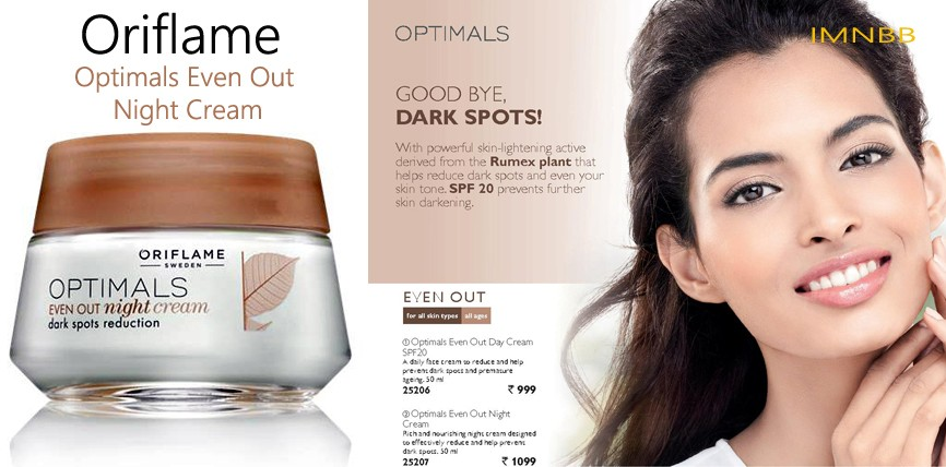 Oriflame Optimals Even Out Night Cream Review