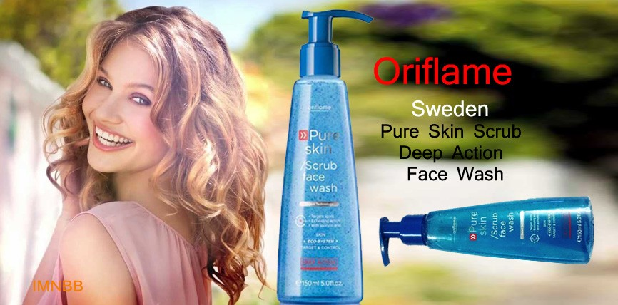 Oriflame Sweden Pure Skin Scrub Deep Action Face Wash Review