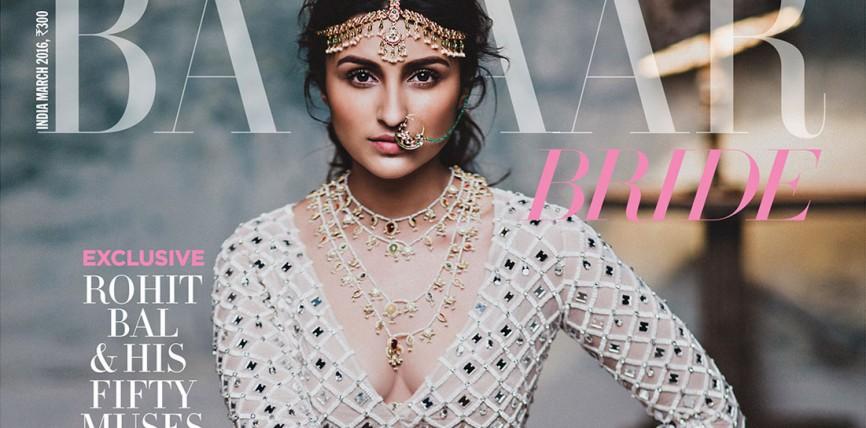 Parineeti Chopra Hot Harper's Bazaar Bride Photoshoot