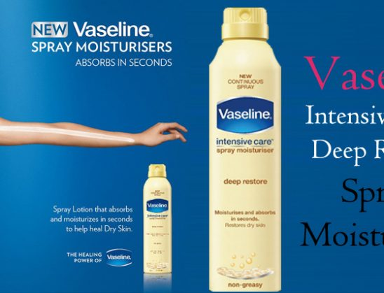 Vaseline Intensive Care Deep Restore Spray Moisturizer Review
